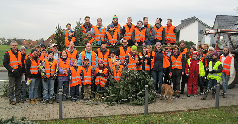 Weihnachtsbaumsammlung 2014